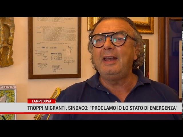 """Lampedusa.Troppi migranti, sindaco """"Proclamo io lo stato di emergenza"""""""