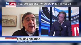 LEOLUCA ORLANDO SINDACO DI PALERMO IN DIRETTA SU TELE ONE IN 19 LIVE