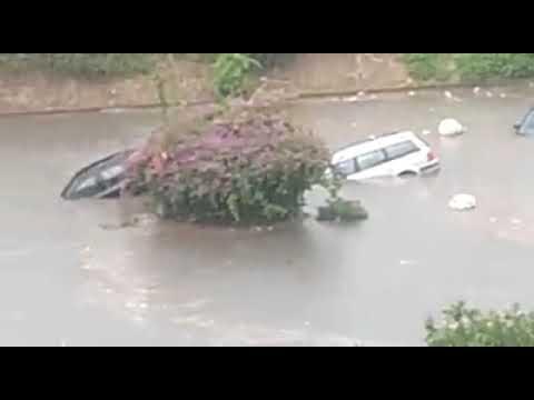 Nubifragio a Palermo: Le persone nelle auto sommerse dall'acqua costrette a nuotare per non annegare