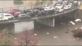 Nubifragio a Palermo: Terribile video del sottopasso di Viale Lazio