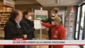 Palermo. 50 mila euro di buoni spesa donati alla Caritas Diocesana