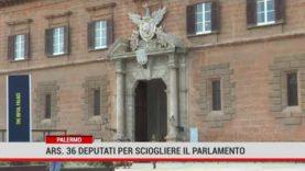 Palermo. Ars: 36 deputati per sciogliere il Parlamento