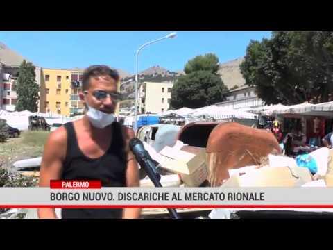 Palermo. Borgo nuovo: discariche al mercato rionale