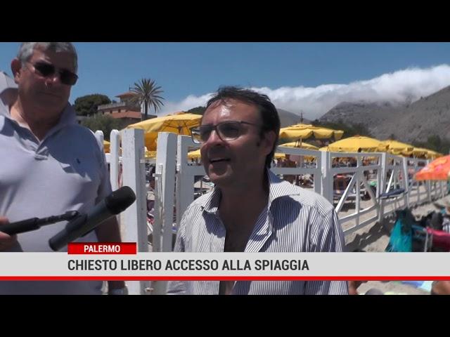 Palermo. Chiesto libero accesso alla spiaggia