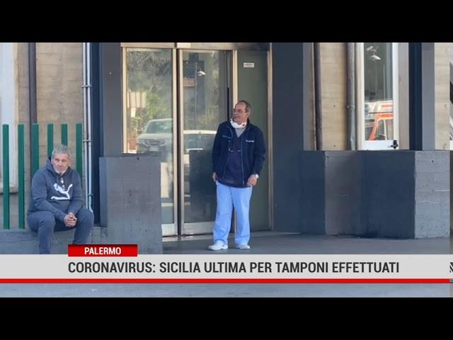 Palermo. Coronavirus: Sicilia ultima per tamponi effettuati