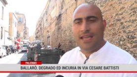 Palermo. Degrado ed incuria in Via Cesare Battisti