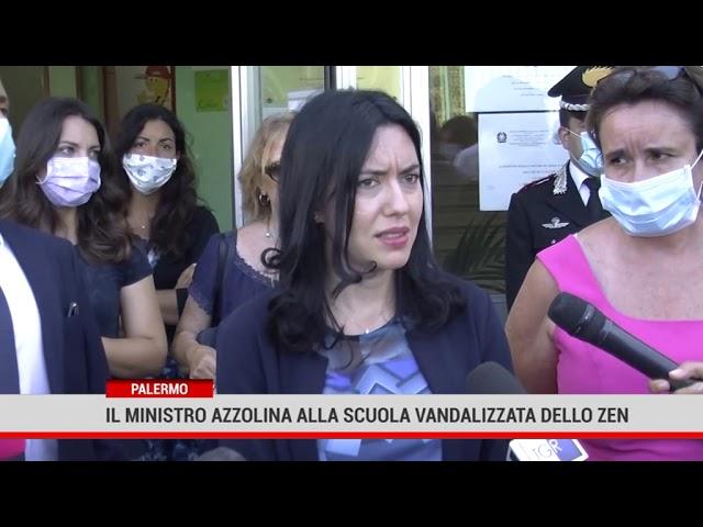 Palermo. Il ministro Azzolina alla scuola vandalizzata dello Zen