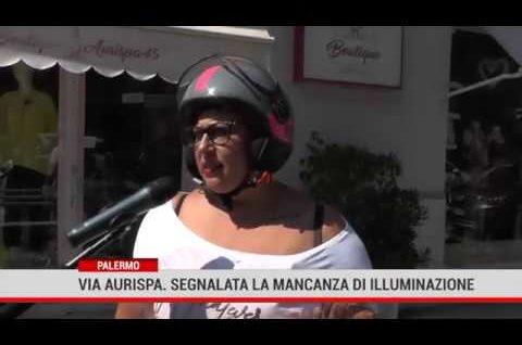 Palermo.  In via Aurispa, commercianti e residenti segnalano la mancanza di illuminazione pubblica