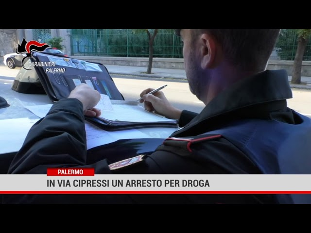 Palermo. In via Cipressi un arresto per droga