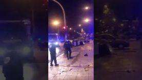 Palermo: Incidente in via Duca della Verdura, ambulanza dentro la vetrina di un negozio