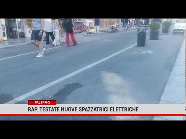Palermo. La Rap ha testato nuove mini spazzatrici elettriche presso alcune aree pedonali
