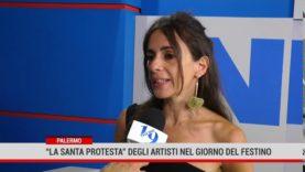 """Palermo. la """"santa protesta"""" degli artisti nel giorno del Festino"""
