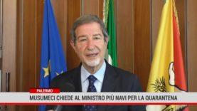 Palermo. Musumeci chiede al Ministro più navi per la quarantena