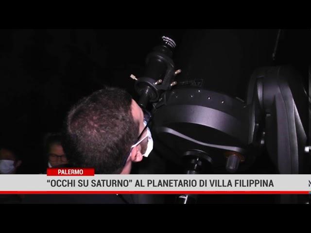 """Palermo. """"Occhi su Saturno"""" al Planetario di Villa Filippina"""