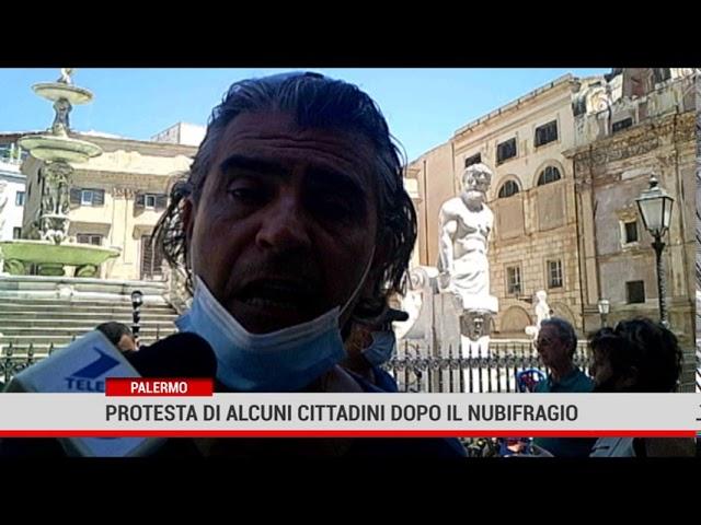 Palermo. Protesta di un comitato di cittadini dopo il nubifragio