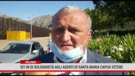 Palermo. Sit in di solidarietà agli agenti di Santa Maria Capua Vetere