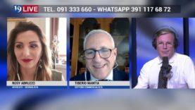 ROSY ABRUZZO E TIBERIO MANTIA IN DIRETTA TV SU TELE ONE IN 19 LIVE