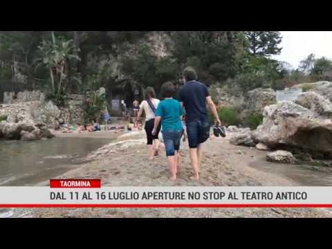 Taormina. Aperture no stop al Teatro Antico