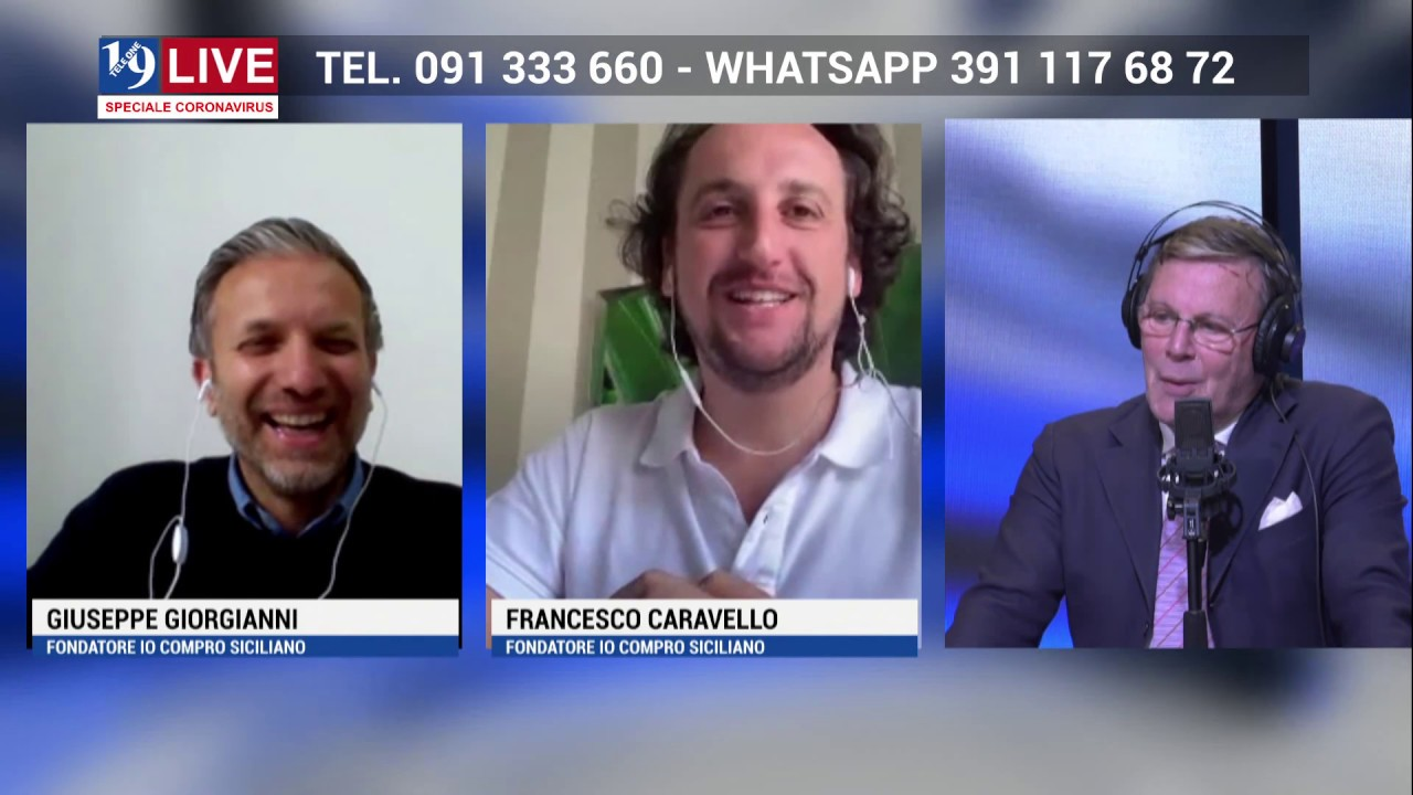 TELE ONE canale 19: GIUSEPPE GIORGIANNI e FRANCESCO CARAVELLO IO COMPRO SICILIANO SU 19 LIVE