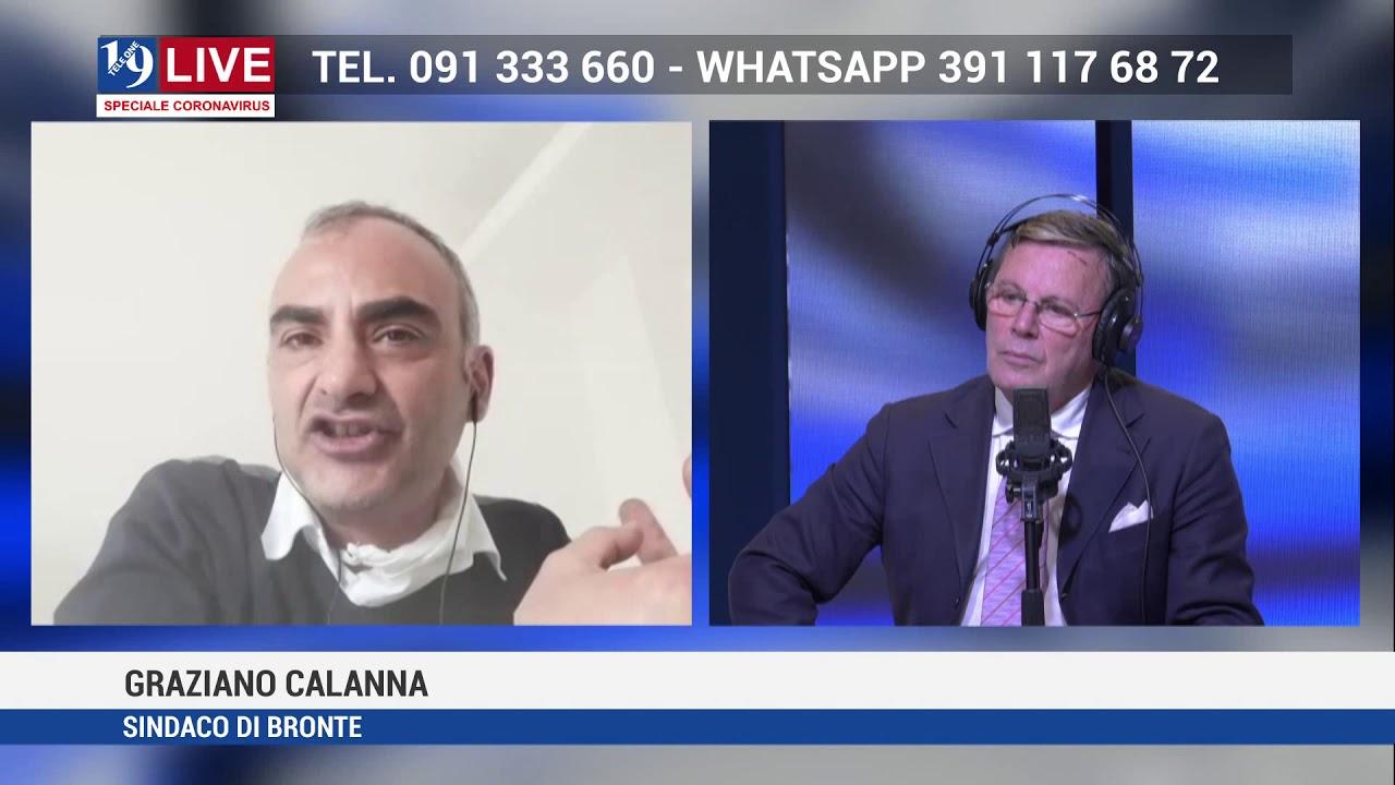 TELE ONE canale 19: GRAZIANO CALANNA SINDACO DI BRONTE IN DIRETTA TV SU 19 LIVE
