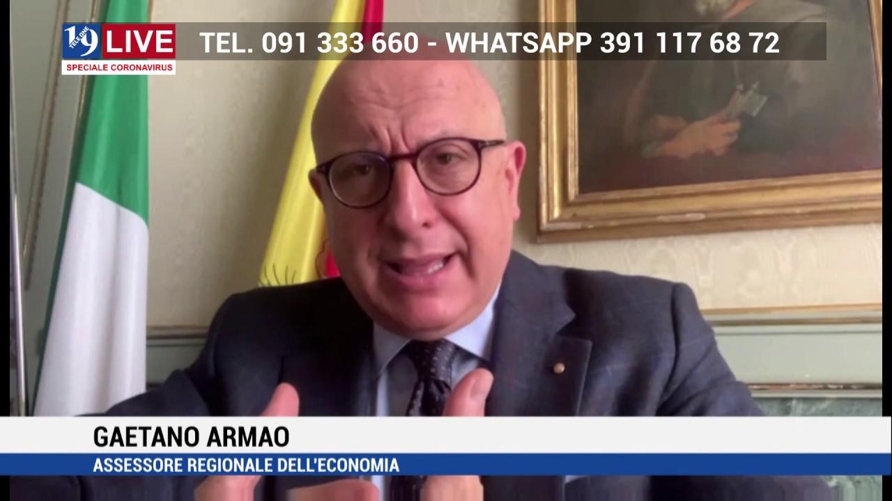 TELE ONE: GAETANO ARMAO ASSESSORE REGIONALE ECONOMIA IN DIRETTA TV SU 19 LIVE