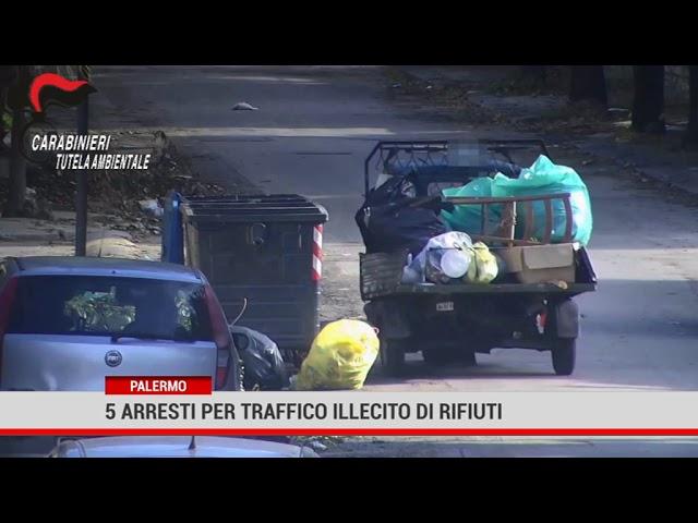 Traffico illecito di rifiuti a Palermo, cinque arresti e denunciati tre dipendenti della Rap