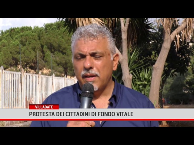 Villabate. Protesta dei cittadini di Fondo Vitale