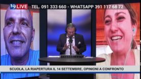 19LIVE   SCUOLA   LA RIAPERTURA IL 14 SETTEMBRE   OPINIONI A CONFRONTO