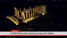Agrigento. Lo spettacolo dell'alba alla Valle dei Templi