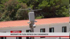 Lampedusa. Migranti in fuga ripresi dai carabinieri