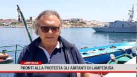 Lampedusa. Pronti alla protesta