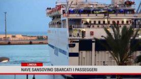 Linosa. Sbarcati tutti i passeggeri dalla nave Sansovino