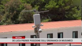 Messina. De Luca prende posizione sull'ordinanza di Musumeci