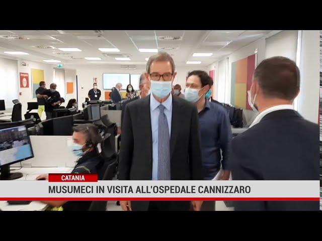 Musumeci in visita all'ospedale Cannizzaro di Catania