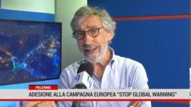 """Palermo. Campagna europea """"Stop global Warming"""" per contrastare il surriscaldamento globale."""