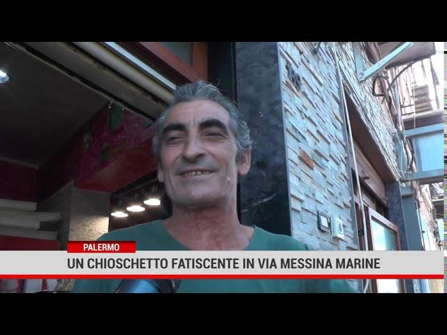 Palermo. Chioschetto comunale fatiscente in via Messina Marine