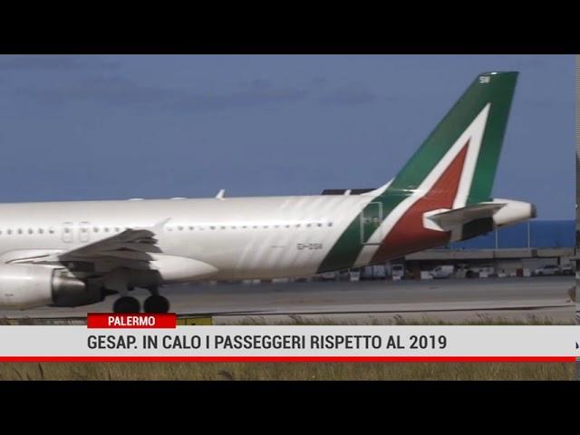 Palermo. Gesap: in calo i passeggeri rispetto al 2019