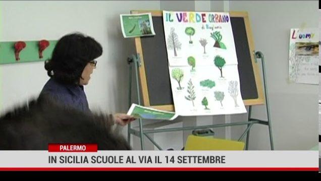 Palermo. In Sicilia scuole al via il 14 settembre