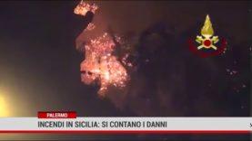 Palermo. Incendi in Sicilia : si contano i  danni