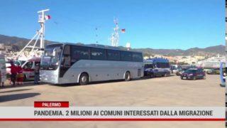 Palermo. Pandemia. 2 milioni ai comuni interessati dalla migrazione