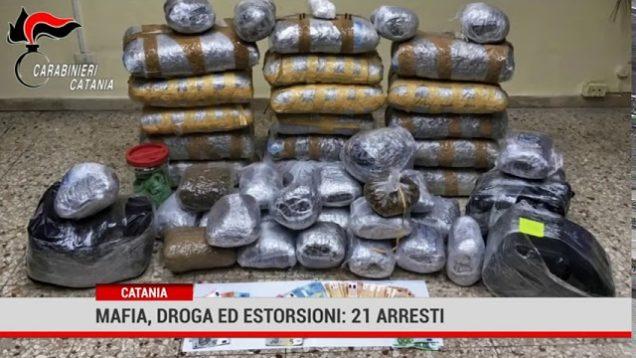 Catania. Mafia, estorsioni e traffico di droga: 21 arresti