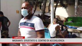Lampedusa: svuotato il centro di accoglienza