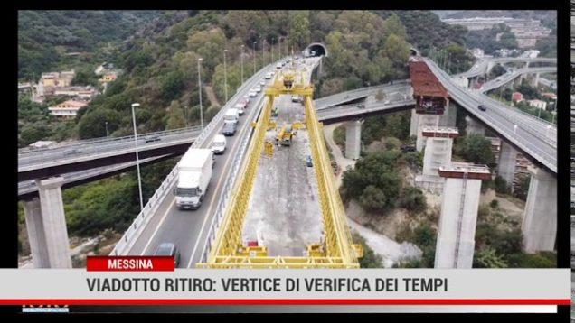 Messina. Viadotto Ritiro: vertice di verifica dei tempi
