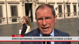 Palermo. Covid: bonus matrimonio, governo Musumeci stanzia 3,5 milioni