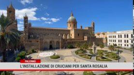 Palermo. L' installazione di Angelo Cruciani per Santa Rosalia