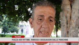 Palermo. Piazza XIII vittime. Rimossi i dissuasori dalle panchine