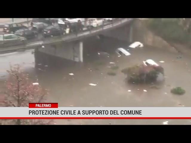 Palermo. Protezione civile  a supporto del Comune