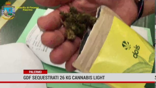 Palermo. Sequestrati 26 kg di Cannabis light