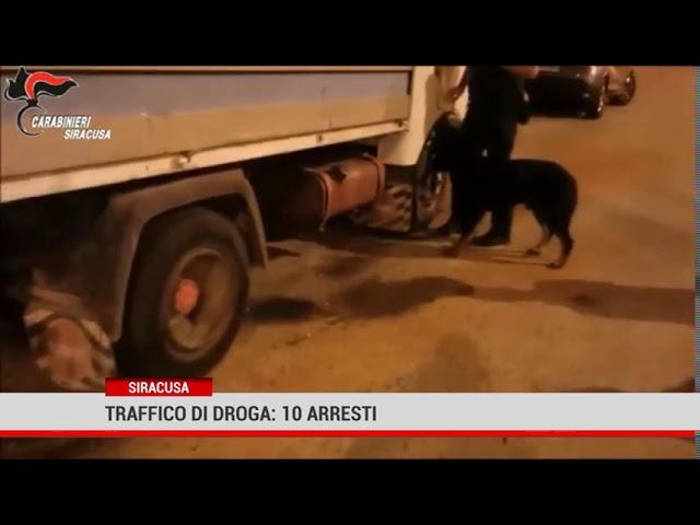 Siracusa. Traffico di droga: 10 arresti