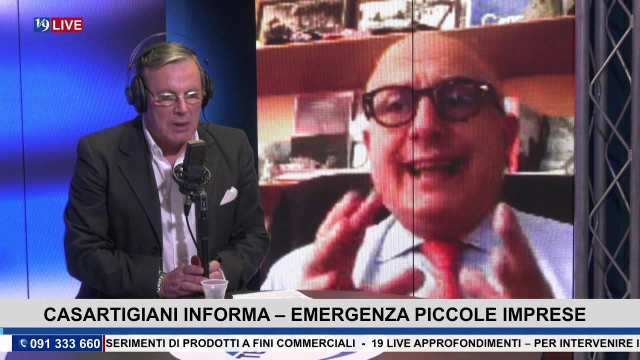 """19LIVE   """"CASARTIGIANI INFORMA"""", EMERGENZE PICCOLE IMPRESE con @GaetanoArmao e @MaurizioPucceri"""